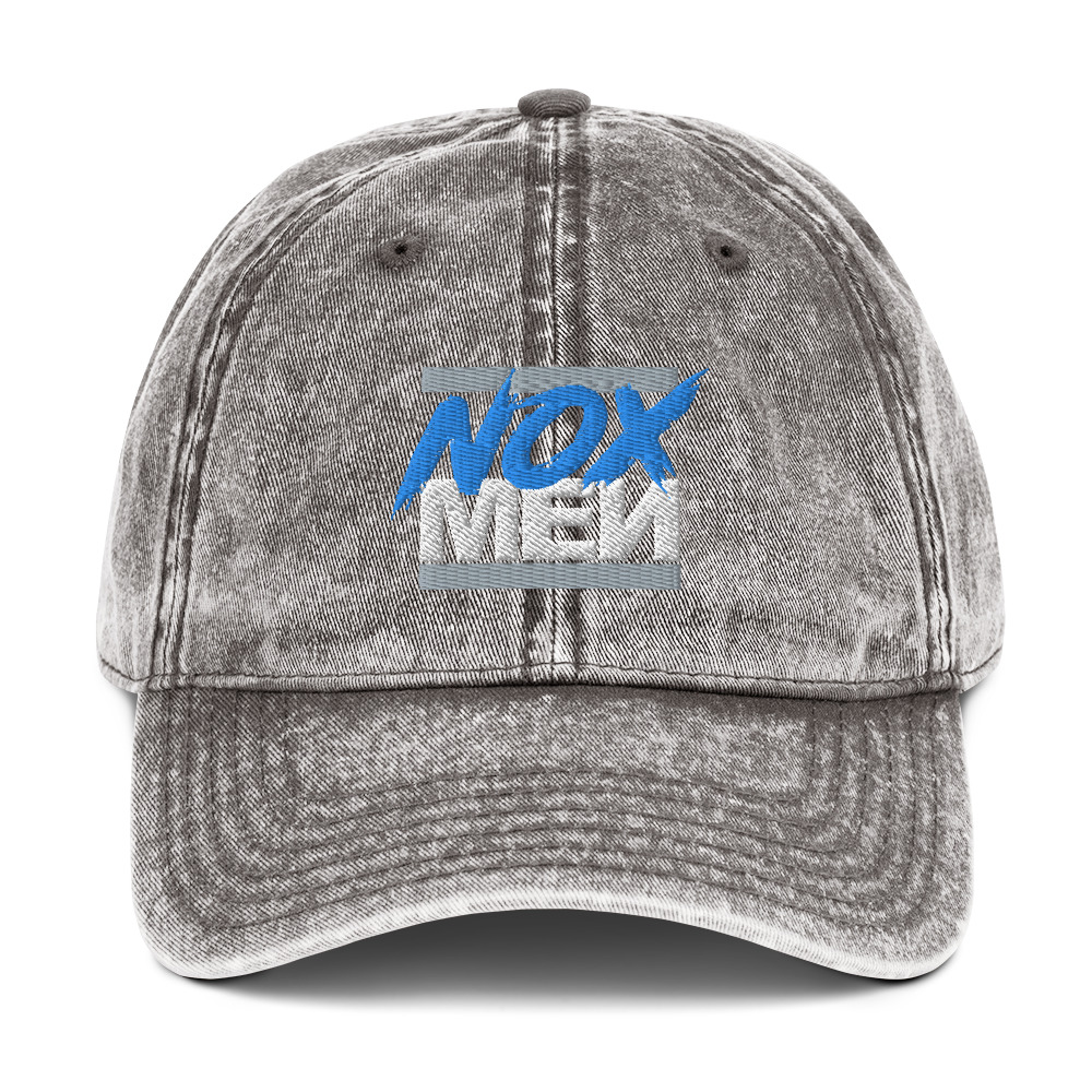 Vintage NOX Blue Logo Dad Hat